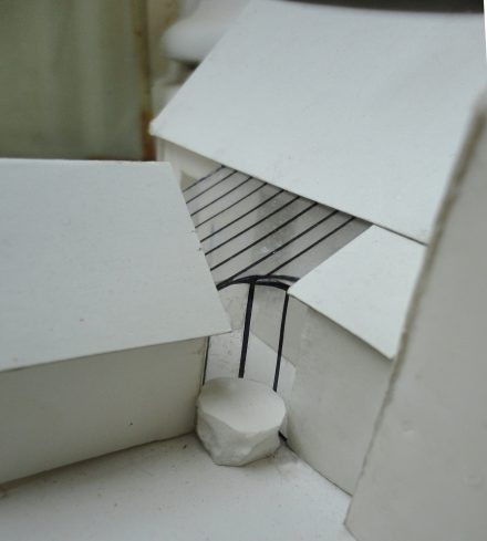 Maquette d'architecte véranda