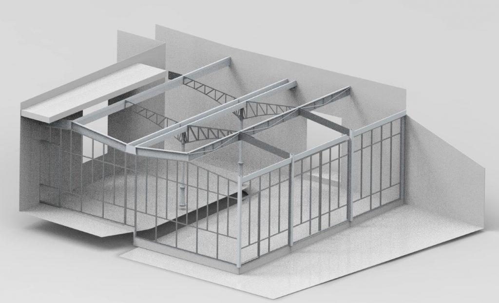 Modélisation 3D véranda