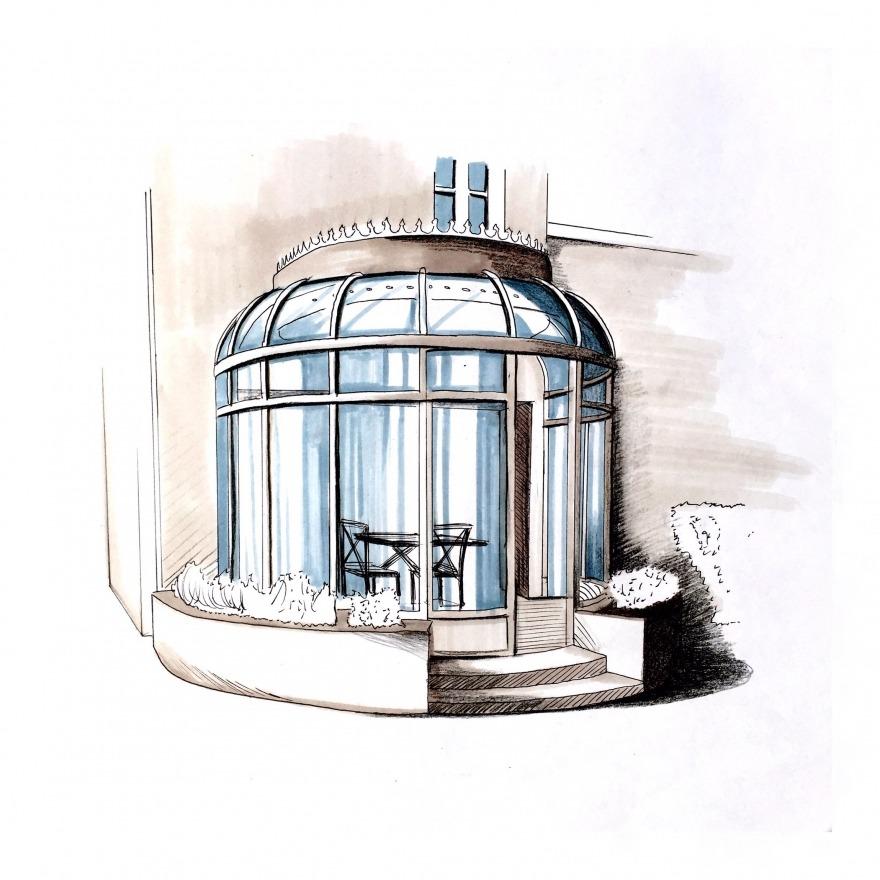 Aquarelle d'architecte